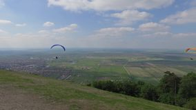 Serbia Paragliding sport stock video footage