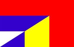 serbia romania flag Stock Images