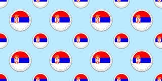 Serbia round flagi bezszwowy wzór Serbski tło Wektorowe okrąg ikony Geometryczni symboli/lów majchery tekstura dla ilustracji