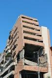 Serbia war damage. Ministry of Defense ruin in Belgrade. Destruction after NATO bombing in 1999 Stock Photo