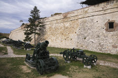 Serbian army canons and tanks on display at the outdoor Kalemegdan Military museum, Belgrade, Serbia Stock Photography