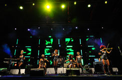 Serbian band  Stock Image