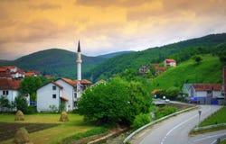Serbian border village Royalty Free Stock Photos