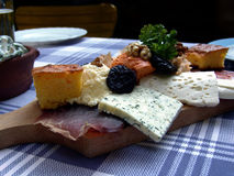 Serbian breakfast. Serving breakfast in Serbian country house royalty free stock images