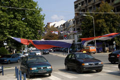 Serbian cars, Mitrovica, Kosovo Stock Photography