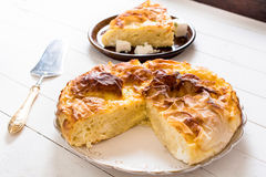 Serbian cheese pie royalty free stock photo