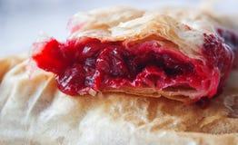 Serbian cherry pie. Serbian cuisine, sour cherry phyllo pie stock photos
