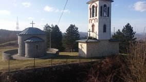 Serbian church. Zvornik stock photo