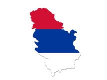 Serbian country. Serbian flag like country Royalty Free Illustration