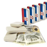 Serbian crisis domino effect Royalty Free Stock Photos