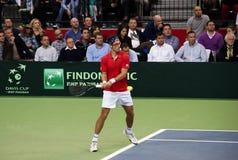 Serbian-Czech Republic doubles match-4 Royalty Free Stock Photo