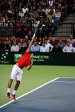 Serbian-Czech Republic doubles match-5 Royalty Free Stock Photo