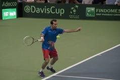 Serbian-Czech Republic doubles match-10 Royalty Free Stock Photography