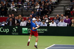 Serbian-Czech Republic doubles match-6 Royalty Free Stock Image