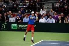 Serbian-Czech Republic doubles match-8 Royalty Free Stock Photo