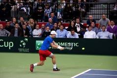 Serbian-Czech Republic doubles match-7 Royalty Free Stock Photography