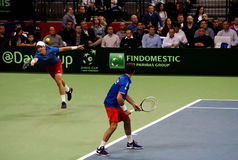 Serbian-Czech Republic doubles match-3 Royalty Free Stock Images