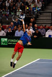 Serbian-Czech Republic doubles match-2 Royalty Free Stock Photography