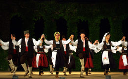 Serbian dance group Stock Images