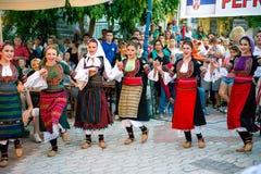 Serbian Dancing Girls Royalty Free Stock Image