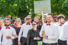 Serbian delegation at the festival of Orthodox music in Pomorie, Bulgaria Stock Photography