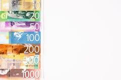 Serbian dinar banknotes stock images