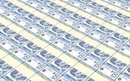 Serbian dinar bills stacks background. Stock Photography
