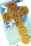 Serbian dinar coins Stock Image