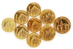 Serbian dinar coins Stock Photography