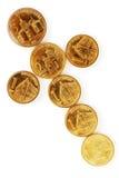 Serbian dinar coins Stock Photos