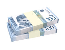 Serbian dinar isolated on white background. Stock Image