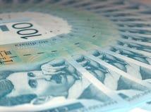 Serbian dinars. Serbian money Stock Photos