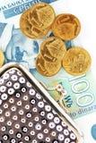 Serbian dinars royalty free stock photos