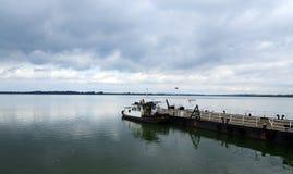 Serbian ferry boat Stock Image