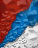 Serbian flag of clouds of smoke, vector illustration stock illustration