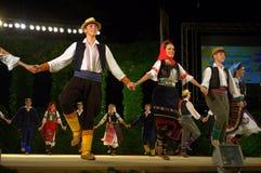 Serbian folk dance Stock Photos