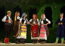 Serbian folk dance group Stock Image