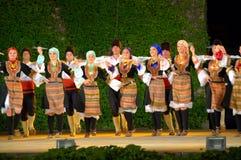 Serbian folkloric ensemble performance Stock Photography