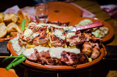 Serbian food stock image