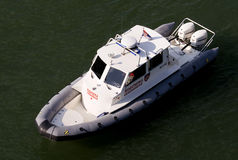 Serbian gendarmerie ship on carnival Stock Images