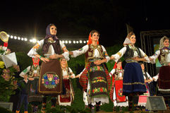 Serbian girls national costumes Stock Photography