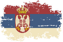 Serbian grunge flag. Vector illustration. Royalty Free Stock Image