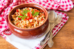 Serbian kidney beans  goulash Stock Photos