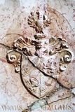 Serbian medieval heraldry. Coat of arms stock photo