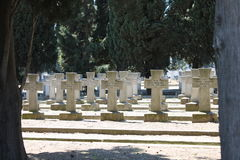 Serbian military cemetery from the First World War in Thessaloniki Greece. Stock Photo