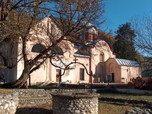 The Patriarchate of Pec - Serbian orthdox monastery at Kosovo. Serbian Monastery from 13th century located in Kosovo. UNESCO World Heritage site royalty free stock image