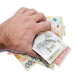 Serbian money royalty free stock photos