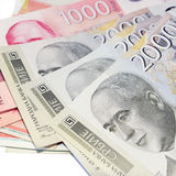Serbian money stock photo
