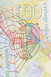Serbian Money, detail, Five Hundred Dinars Stock Image