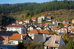 Serbian mountain village Royalty Free Stock Photography